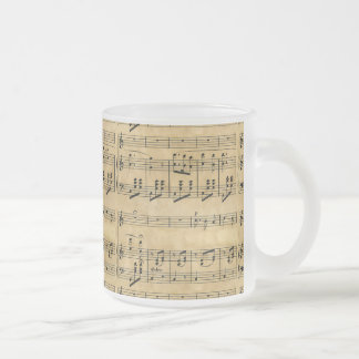 Musical Score Old Parchment Paper Design Mugs