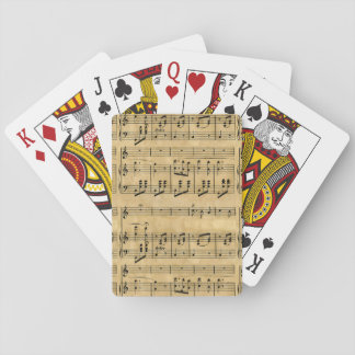 Musical Score Old Parchment Paper Design Playing Cards