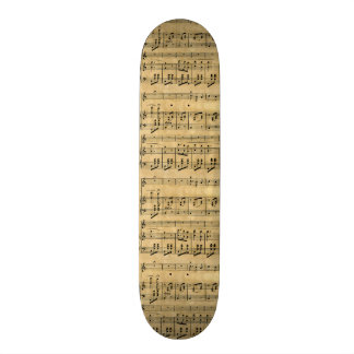 Musical Score Old Parchment Paper Design Skateboard Decks