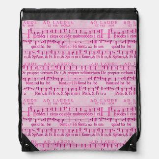 Musical Score Old Pink Paper Design Backpack