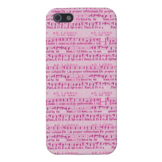 Musical Score Old Pink Paper Design Case For iPhone 5