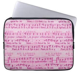 Musical Score Old Pink Paper Design Laptop Sleeve