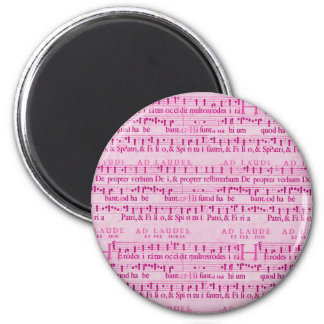 Musical Score Old Pink Paper Design Magnets