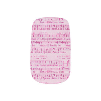 Musical Score Old Pink Paper Design Minx ® Nail Wraps