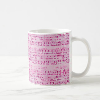 Musical Score Old Pink Paper Design Coffee Mug