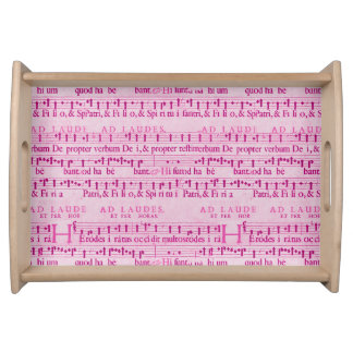 Musical Score Old Pink Paper Design Serving Trays