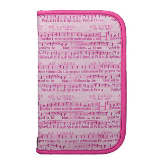 Musical Score Old Pink Paper Design Organizers
