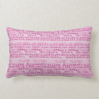 Musical Score Old Pink Paper Design Throw Pillow