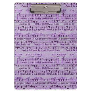 Musical Score Old Purple Paper Design Clipboard