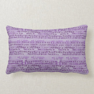 Musical Score Old Purple Paper Design Pillows