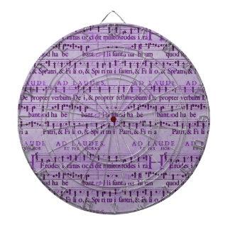 Musical Score Old Purple Paper Design Dartboard