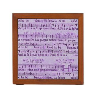 Musical Score Old Purple Paper Design Desk Organizer