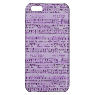 Musical Score Old Purple Paper Design Cover For iPhone 5C