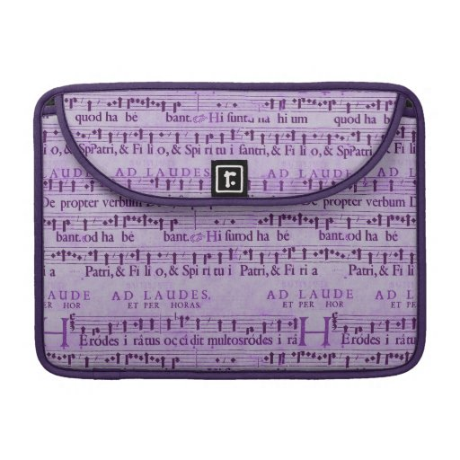 Musical Score Old Purple Paper Design Sleeves For MacBooks