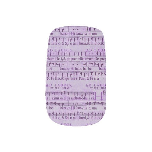 Musical Score Old Purple Paper Design Minx ® Nail Wraps