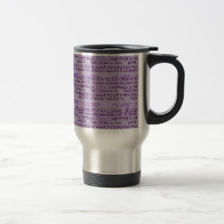 Musical Score Old Purple Paper Design Mug