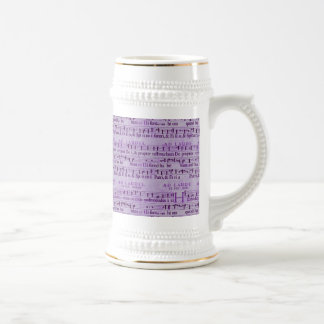 Musical Score Old Purple Paper Design Coffee Mugs