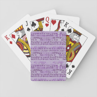 Musical Score Old Purple Paper Design Poker Cards