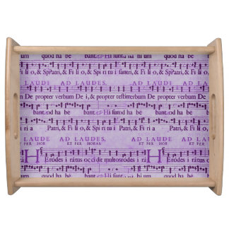 Musical Score Old Purple Paper Design Food Trays
