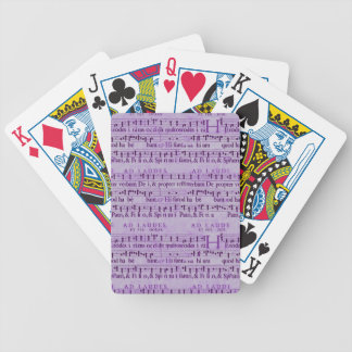 Musical Score Old Purple Paper Design Bicycle Card Decks