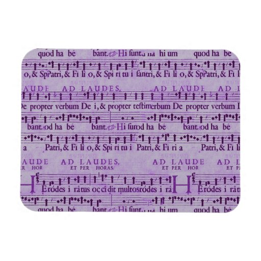 Musical Score Old Purple Paper Design Vinyl Magnets