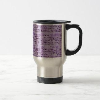 Musical Score Old Purple Paper Design Stainless Steel Travel Mug