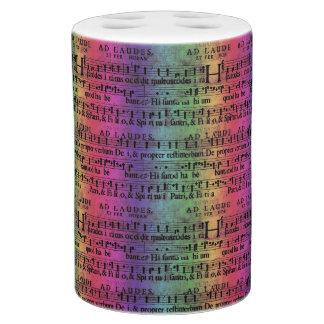 Musical Score Old Rainbow Paper Design Bathroom Sets