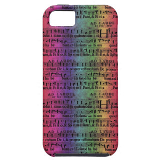 Musical Score Old Rainbow Paper Design iPhone 5 Covers