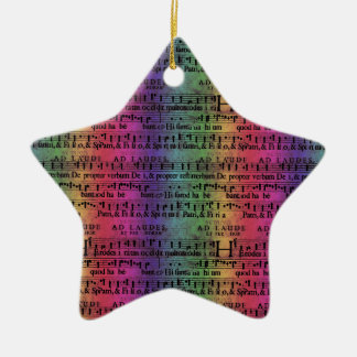 Musical Score Old Rainbow Paper Design Ceramic Star Decoration