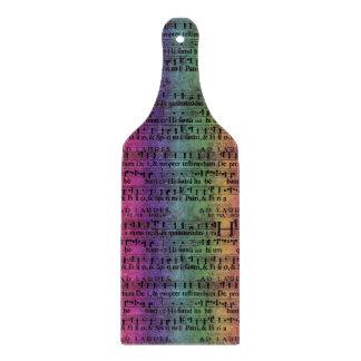 Musical Score Old Rainbow Paper Design Cutting Board