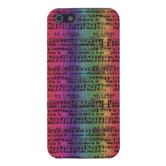 Musical Score Old Rainbow Paper Design Cases For iPhone 5