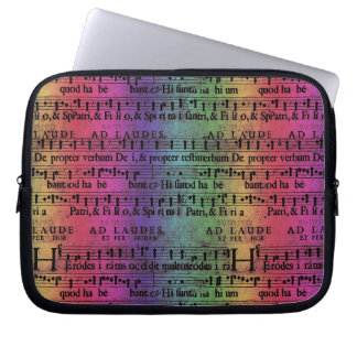 Musical Score Old Rainbow Paper Design Computer Sleeve