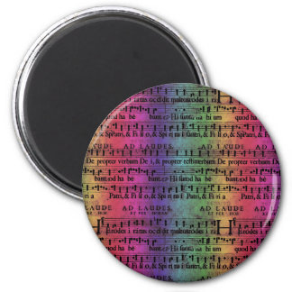 Musical Score Old Rainbow Paper Design Refrigerator Magnets