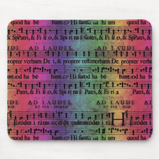Musical Score Old Rainbow Paper Design Mousepads