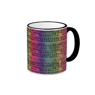 Musical Score Old Rainbow Paper Design Coffee Mugs