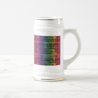 Musical Score Old Rainbow Paper Design Mugs
