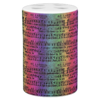 Musical Score Old Rainbow Paper Design Bath Accessory Sets