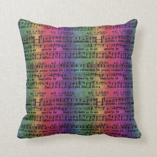 Musical Score Old Rainbow Paper Design Pillow
