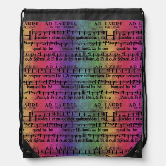 Musical Score Old Rainbow Paper Design Backpack