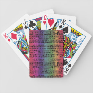 Musical Score Old Rainbow Paper Design Deck Of Cards