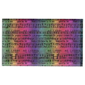 Musical Score Old Rainbow Paper Design Table Card Holders