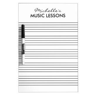 Musical sheet dry erase board for music teacher