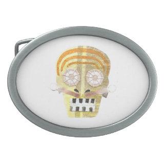 Musical Skull Buckle Oval Belt Buckles