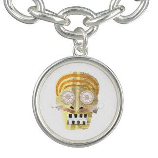 Musical Skull Charm Bracelet