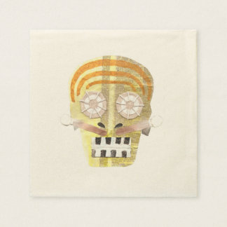 Musical Skull Ecru Napkins Disposable Napkin