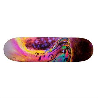 """Musical Skull II"" by Debi Blount Skateboards"