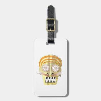 Musical Skull Luggage Tag