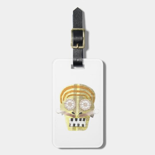 Musical Skull Luggage Tag