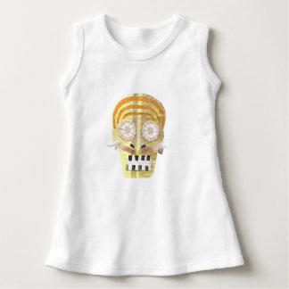 Musical Skull No Background Baby Dress