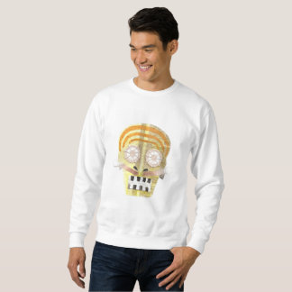 Musical Skull No Background Men's Jumper Sweatshirt